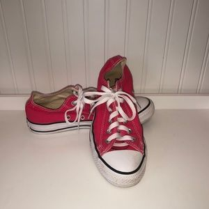 CONVERSE ALL*STAR Raspberry Low Ox Shoes Size 8